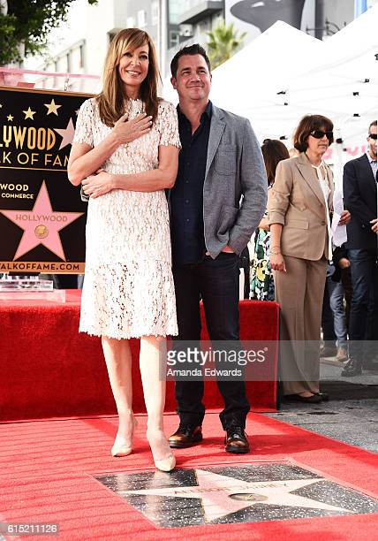 Actress Allison Janney and director Tate Taylor attend Janney's Star ceremony on The Hollywood Walk of Fame on October 17 2016 in Hollywood California