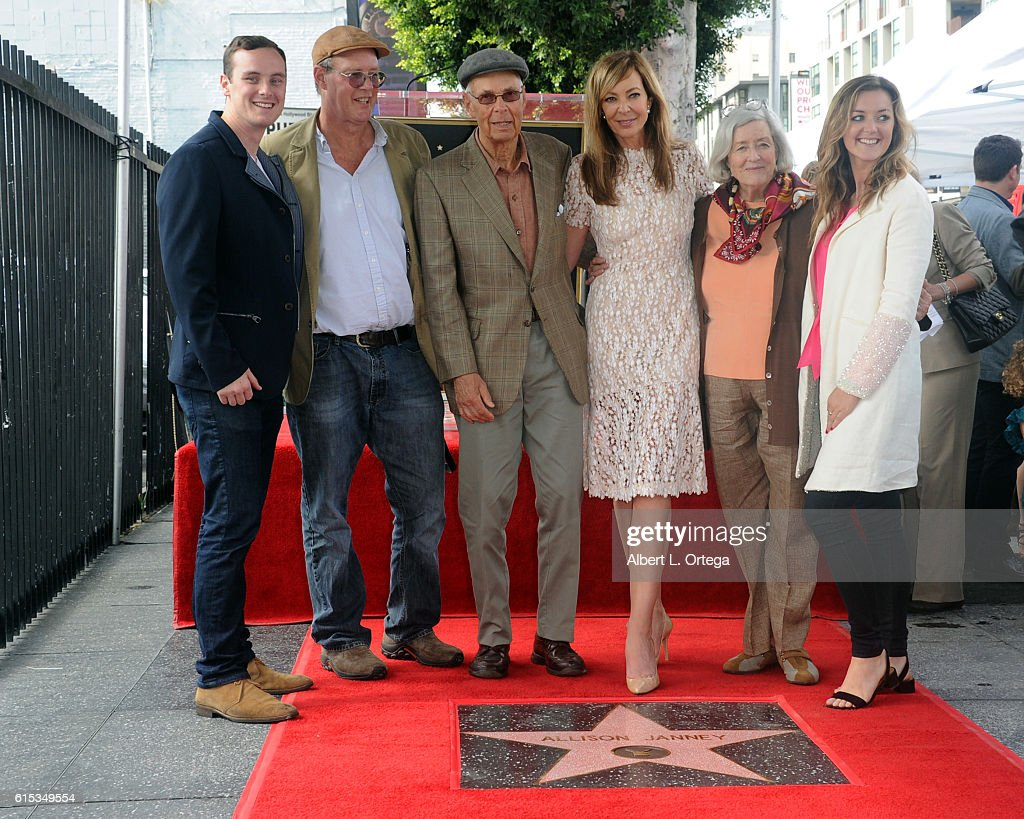 Actress Allison Janney and family at the Star ceremony held On The Hollywood Walk Of Fame on October 17, 2016 in Hollywood, California.