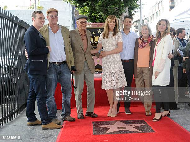 Actress Allison Janney and family at the Star ceremony held On The Hollywood Walk Of Fame on October 17 2016 in Hollywood California