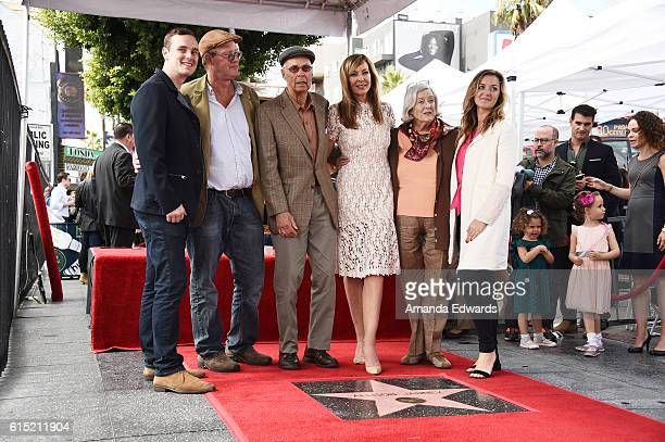 Actress Allison Janney and her family attend her Star ceremony on The Hollywood Walk of Fame on October 17 2016 in Hollywood California