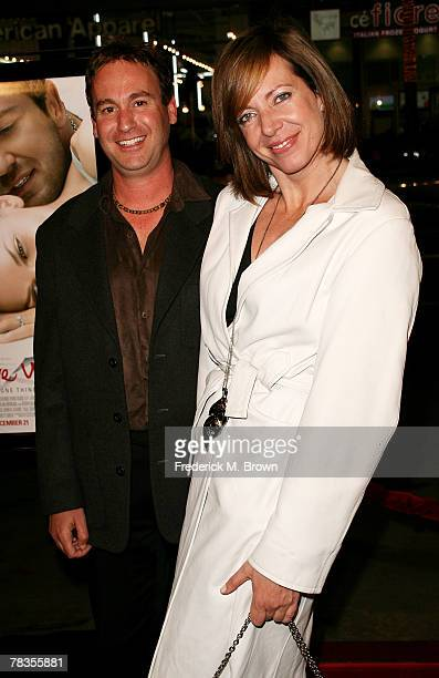 Actress Allison Janney and her guest attend the Warner Bros' film premiere of 'PS I Love You' at Grauman's Chinese Theatre on December 9 2007 in...