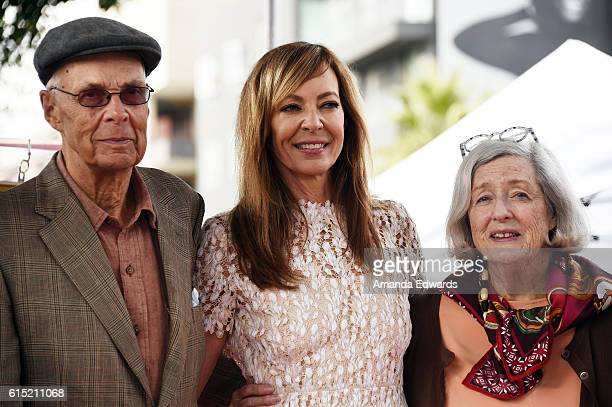 Actress Allison Janney and her parents attend her Star ceremony on The Hollywood Walk of Fame on October 17 2016 in Hollywood California
