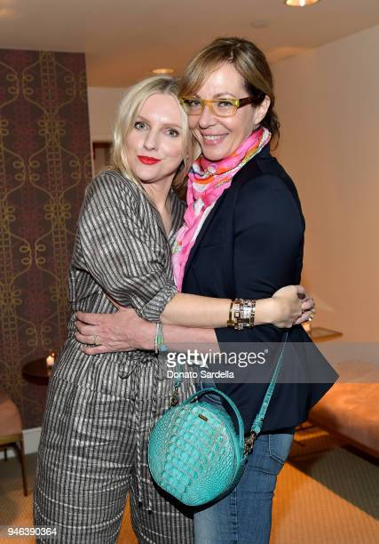 Actress Allison Janney and InStyle Editor in Chief Laura Brown attend InStyle and Brahmin's Badass Women Dinner hosted by Laura Dern on April 14 2018...