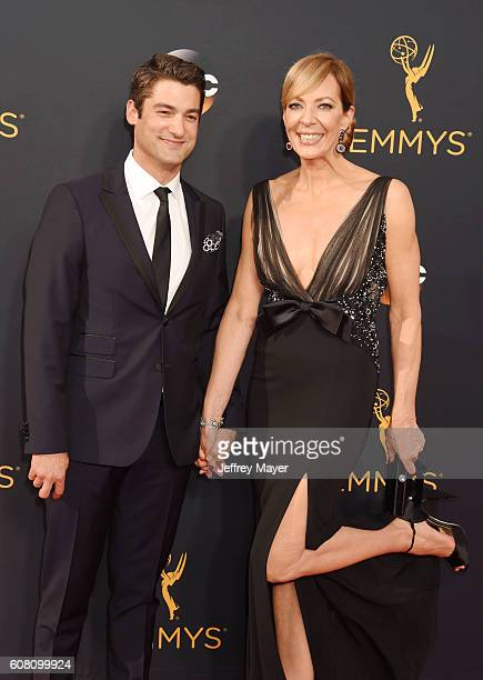 Actress Allison Janney and Philip Joncas arrive at the 68th Annual Primetime Emmy Awards at Microsoft Theater on September 18 2016 in Los Angeles...
