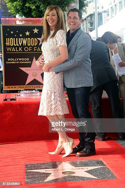 Actress Allison Janney and Philip Joncas at the Star ceremony held On The Hollywood Walk Of Fame on October 17 2016 in Hollywood California