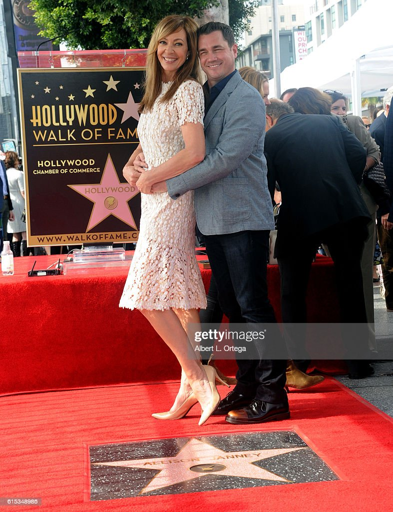 Actress Allison Janney and Philip Joncas at the Star ceremony held On The Hollywood Walk Of Fame on October 17, 2016 in Hollywood, California.