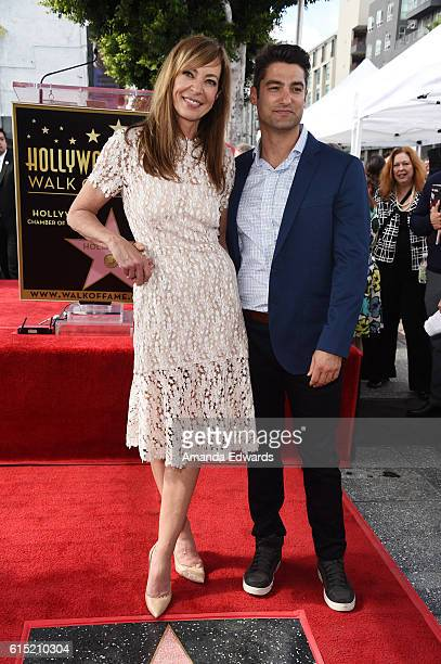 Actress Allison Janney and Philip Joncas attend Janney's Star ceremony on The Hollywood Walk of Fame on October 17 2016 in Hollywood California