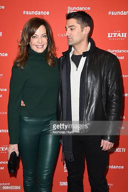Actress Allison Janney and Philip Joncas attend Tallulah Premiere during the 2016 Sundance Film Festival at Eccles Center Theatre on January 23 2016...