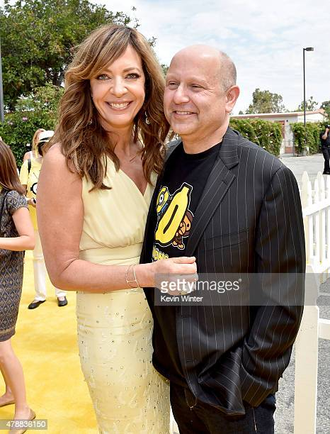 Actress Allison Janney and producer Chris Meledandri arrive at the premiere of Universal Pictures and Illumination Entertainment's 'Minions' at the...