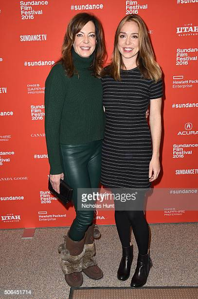 Actress Allison Janney and writer/director Sian Heder attend the Tallulah Premiere during the 2016 Sundance Film Festival at Eccles Center Theatre on...