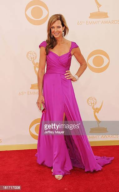 Actress Allison Janney arrives at the 65th Annual Primetime Emmy Awards at Nokia Theatre L.A. Live on September 22, 2013 in Los Angeles, California.