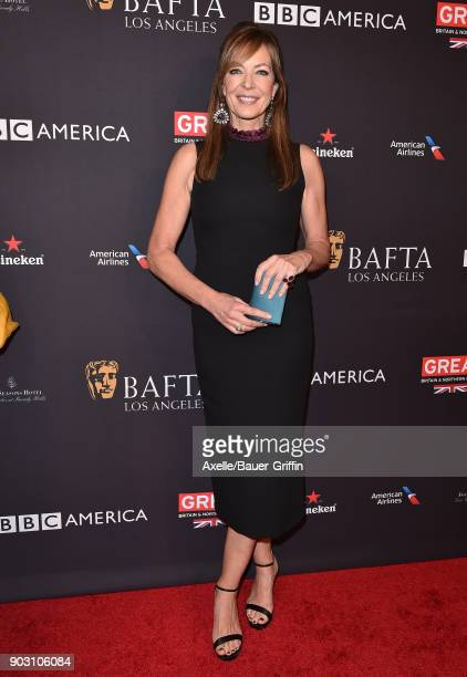 Actress Allison Janney arrives at The BAFTA Los Angeles Tea Party at Four Seasons Hotel Los Angeles at Beverly Hills on January 6 2018 in Los Angeles...