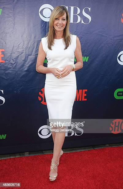 Actress Allison Janney arrives at the CBS CW And Showtime 2015 Summer TCA Party at Pacific Design Center on August 10 2015 in West Hollywood...