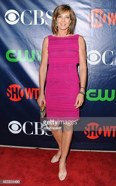 Actress Allison Janney arrives at the CBS The CW Showtime CBS Television Distribution 2014 Television Critics Association Summer Press Tour at...