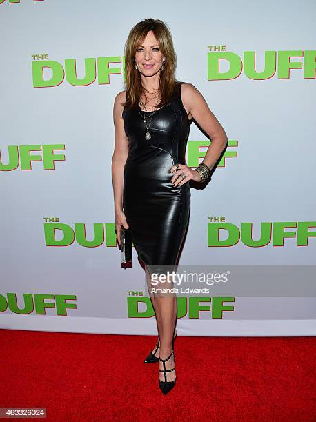 Actress Allison Janney arrives at The Duff Los Angeles special screening at the TCL Chinese 6 Theatres on February 12 2015 in Hollywood California