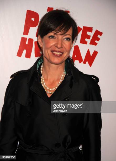 Actress Allison Janney arrives at The Peewee Herman Show Los Angeles Opening Night at Club Nokia on January 20 2010 in Los Angeles California