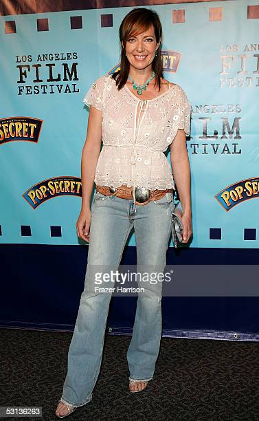 Actress Allison Janney arrives at the premiere of Our Very Own at the Los Angeles Film Festival at the Director Guild of America on June 22 2005 in...
