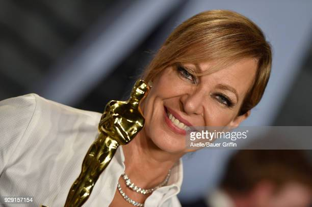 Actress Allison Janney attends the 2018 Vanity Fair Oscar Party hosted by Radhika Jones at Wallis Annenberg Center for the Performing Arts on March 4...