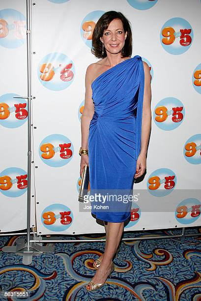 Actress Allison Janney attends the 9 to 5 The Musical Broadway opening night party at the Marriott Marquis on April 30 2009 in New York City