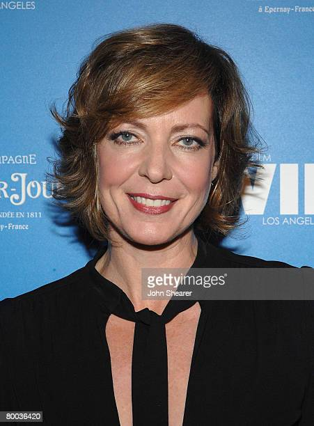 Actress Allison Janney attends the PerrierJouet and Women In Film Oscar Nominee event at a private residence on February 22 2008 in Beverly Hills...