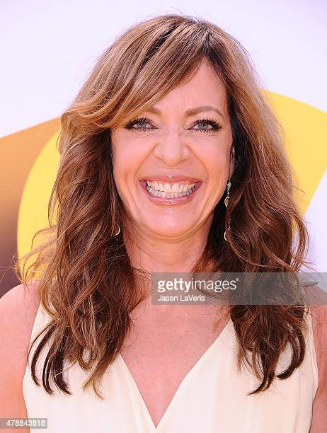 Actress Allison Janney attends the premiere of 'Minions' at The Shrine Auditorium on June 27 2015 in Los Angeles California
