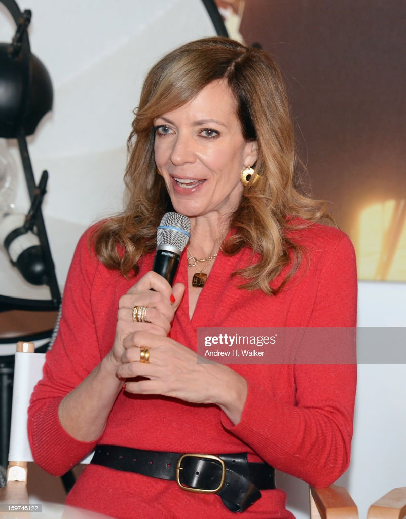 Actress Allison Janney attends the Stella Artois press junket for Sundance Film 'Touchy Feely' at Village at the Lift on January 19, 2013 in Park City, Utah.