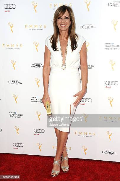Actress Allison Janney attends the Television Academy's celebration for the 67th Emmy Award nominees for outstanding performances at Pacific Design...