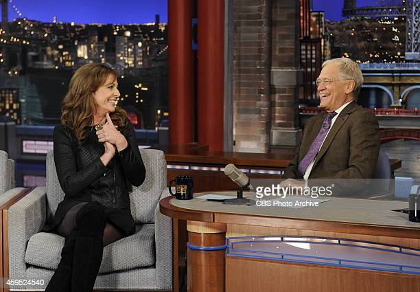Actress Allison Janney from the CBS comedy series 'Mom' talks to Dave about her multiple Emmy wins on the Late Show with David Letterman Monday...