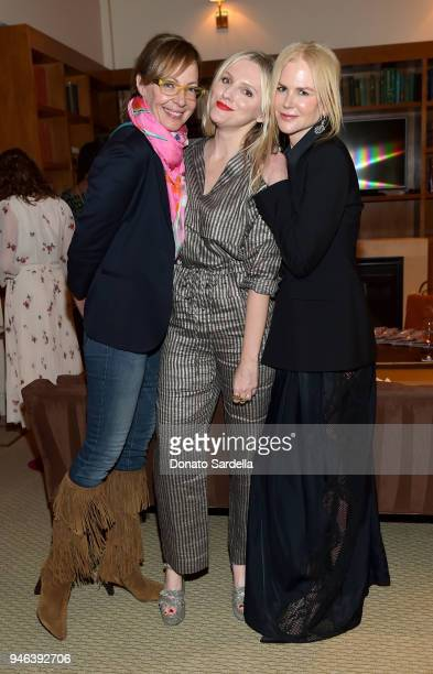 Actress Allison Janney InStyle Editor in Chief Laura Brown and actress Nicole Kidman attend InStyle and Brahmin's Badass Women Dinner hosted by Laura...