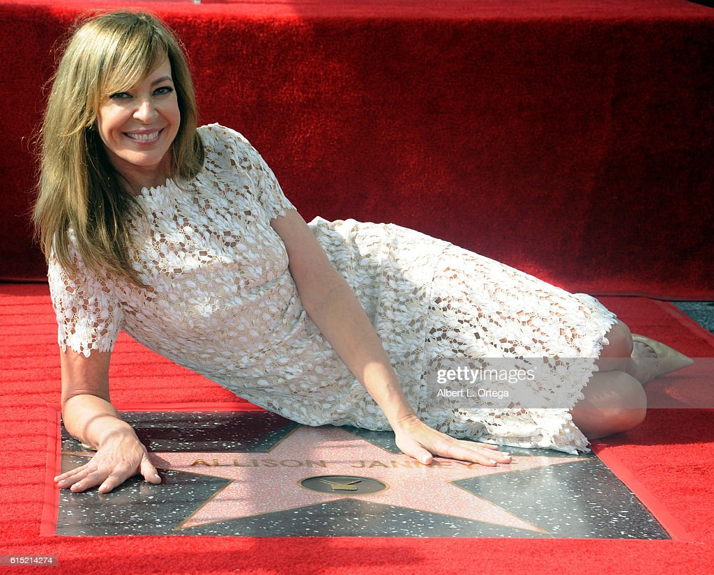 Actress Allison Janney is honored with a star on the Hollywood Walk of Fame on October 17, 2016 in Hollywood, California.