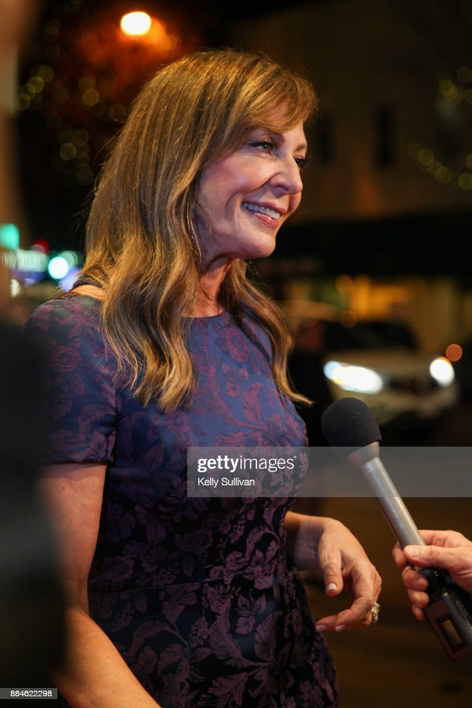 Actress Allison Janney is interviewed on the red carpet for a premiere of 'I, Tonya' at the Christopher B. Smith Rafael Film Center on December 2, 2017 in San Rafael, California.