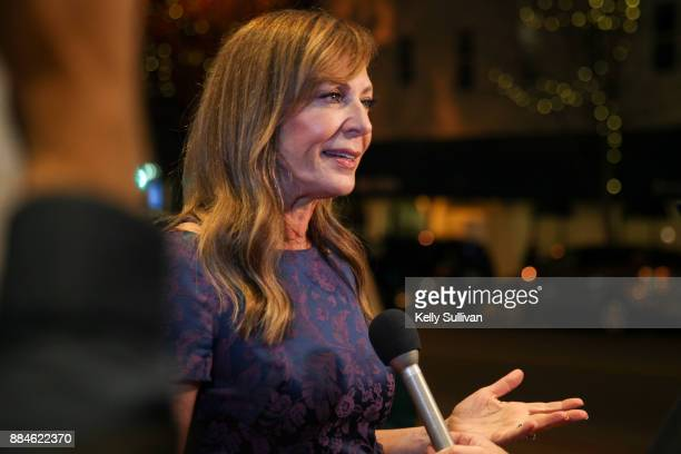 Actress Allison Janney is interviewed on the red carpet for a premiere of 'I Tonya' at the Christopher B Smith Rafael Film Center on December 2 2017...