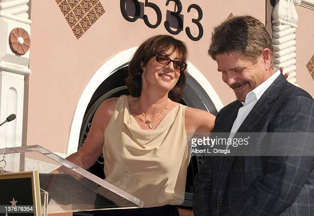 Actress Allison Janney participates at the John Wells Star on The Hollywood Walk Of Fame ceremony held at 6533 Hollywood Blvd on January 12 2012 in...