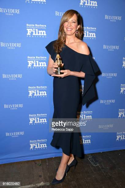 Actress Allison Janney poses backstage at the Outstanding Performers Honoring Margot Robbie and Allison Janney Presented By Belvedere Vodka during...