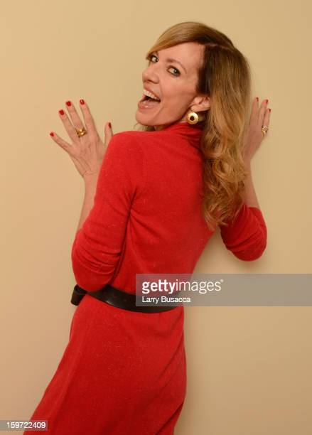 Actress Allison Janney poses for a portrait during the 2013 Sundance Film Festival at the Getty Images Portrait Studio at Village at the Lift on...