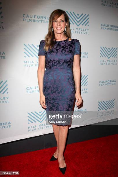 Actress Allison Janney poses for photos on the red carpet for a premiere of 'I Tonya' at the Christopher B Smith Rafael Film Center on December 2...