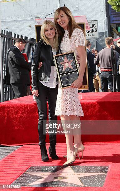 Actress Allison Janney posing with actress Anna Faris is honored with a Star on the Hollywood Walk of Fame on October 17 2016 in Hollywood California
