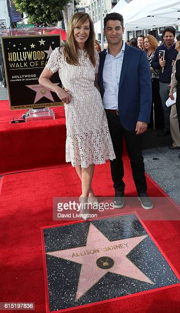 Actress Allison Janney posing with boyfriend Philip Joncas is honored with a Star on the Hollywood Walk of Fame on October 17 2016 in Hollywood...