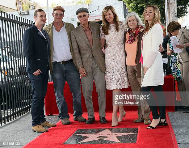 Actress Allison Janney posing with family members is honored with a Star on the Hollywood Walk of Fame on October 17 2016 in Hollywood California