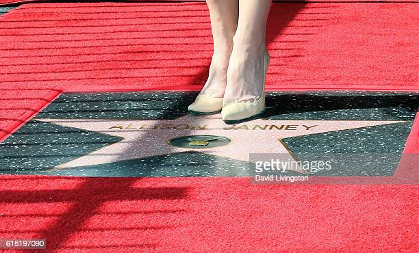 Actress Allison Janney shoe detail is honored with a Star on the Hollywood Walk of Fame on October 17 2016 in Hollywood California