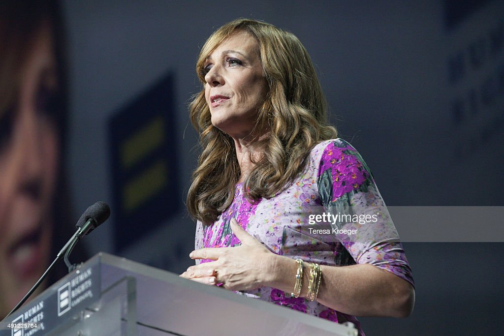 Actress Allison Janney speaks at the 19th Annual HRC National Dinner at Walter E. Washington Convention Center on October 3, 2015 in Washington, DC.