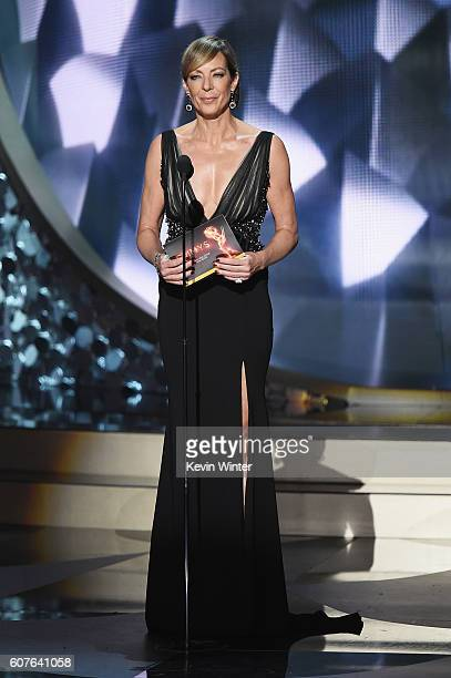 Actress Allison Janney speaks onstage during the 68th Annual Primetime Emmy Awards at Microsoft Theater on September 18 2016 in Los Angeles California