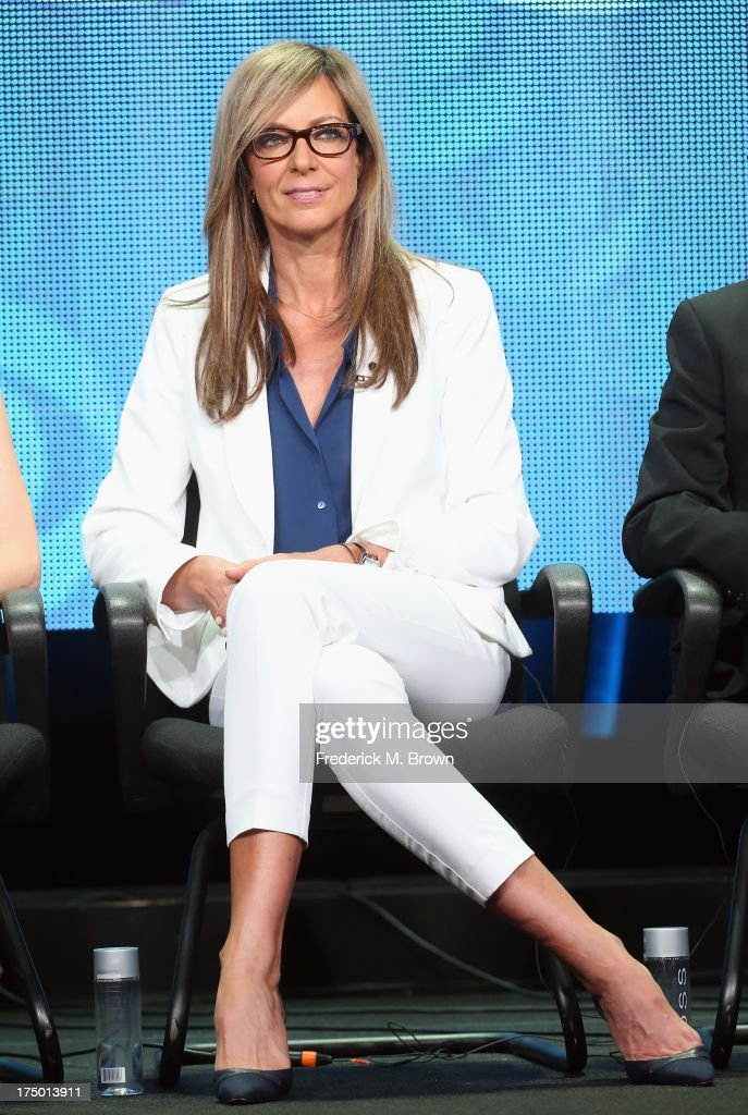 Actress Allison Janney speaks onstage during the 'Mom' panel discussion at the CBS, Showtime and The CW portion of the 2013 Summer Television Critics Association tour at the Beverly Hilton Hotel on July 29, 2013 in Beverly Hills, California.