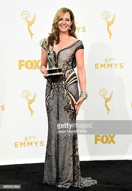 Actress Allison Janney winner of Outstanding Supporting Actress in a Comedy Series for Mom poses in the press room at the 67th Annual Primetime Emmy...