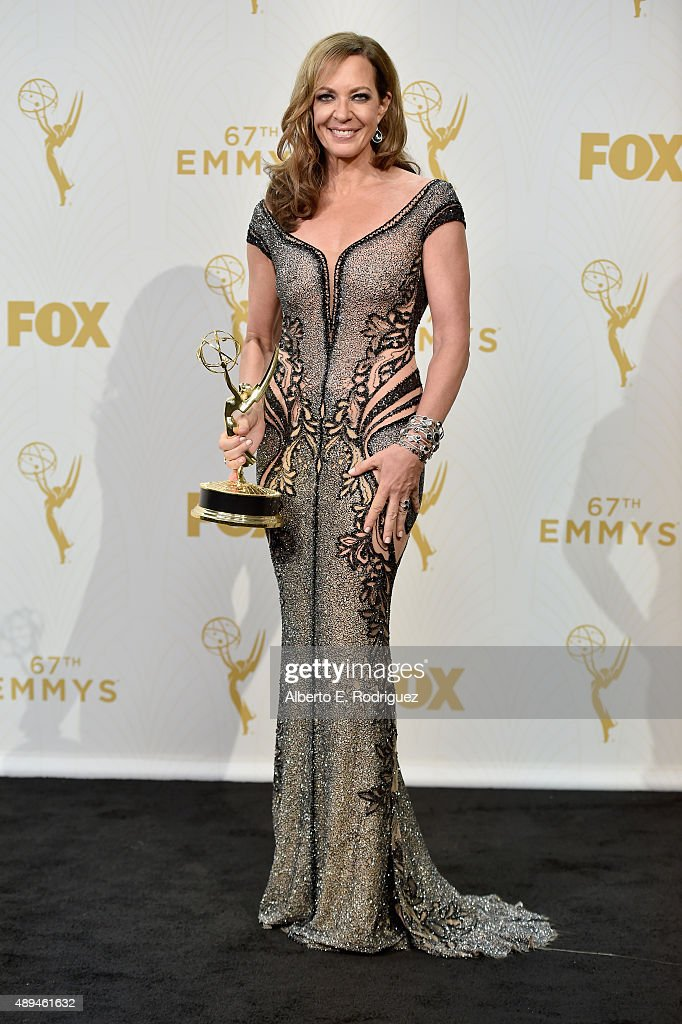 Actress Allison Janney, winner of Outstanding Supporting Actress in a Comedy Series for 'Mom', poses in the press room at the 67th Annual Primetime Emmy Awards at Microsoft Theater on September 20, 2015 in Los Angeles, California.