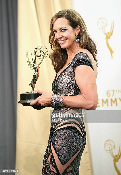 Actress Allison Janney winner of the award for Outstanding Supporting Actress in a Comedy Series for 'Mom' poses in the press room at the 67th Annual...