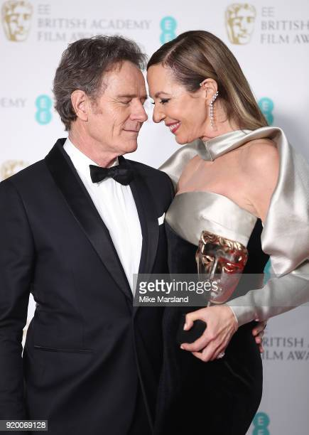Actress Allison Janney winner of the Best Supporting Actress award for her role in the movie 'I Tonya' and Bryan Cranston pose in the press room...