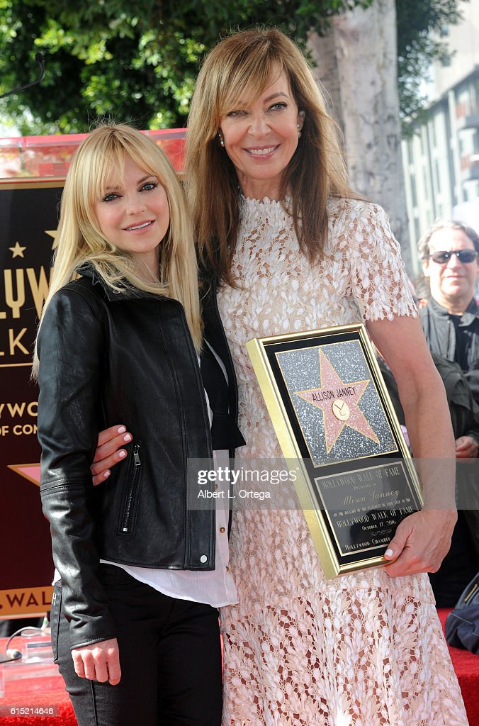 Actress Allison Janney with actress Anna Faris at the Star ceremony held on The Hollywood Walk of Fame on October 17, 2016 in Hollywood, California.