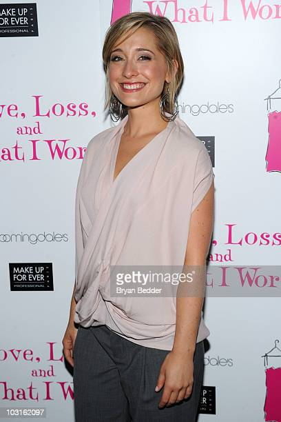 Actress Allison Mack attends the Love Loss And What I Wore new cast member celebration at 44 1/2 on July 29 2010 in New York City