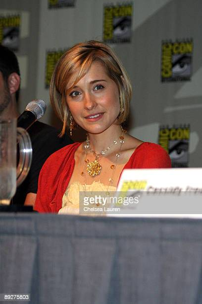 Actress Allison Mack attends the Smallville panel on day 4 of the 2009 ComicCon International Convention on July 26 2009 in San Diego California